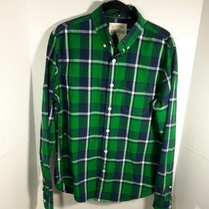 Aeropostale green plaid button down shirt.  Medium